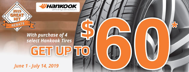 Hankook - Up to $60 Back On 4 Select Tires