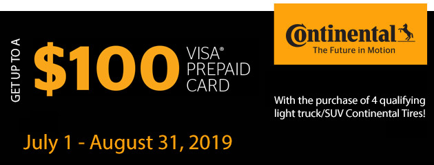 Continental - Up to $100 Prepaid Card