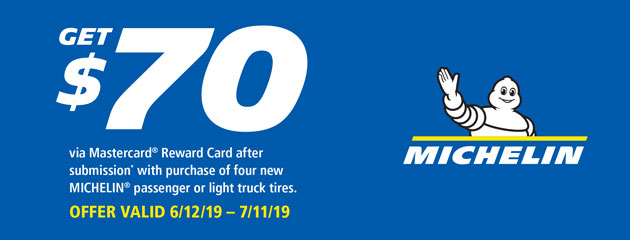 Michelin - $70 Reward Card