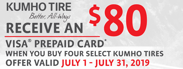 Kumho TWI - $80 On Four Select Tires