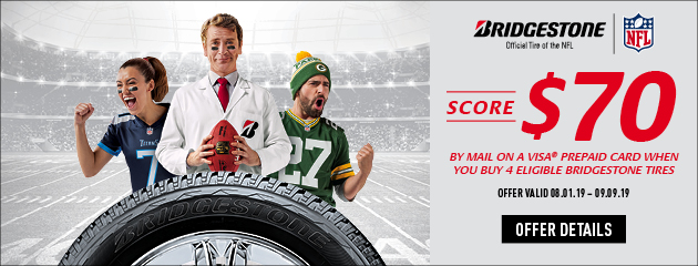 Bridgestone - Score $70 on 4 Select Tires