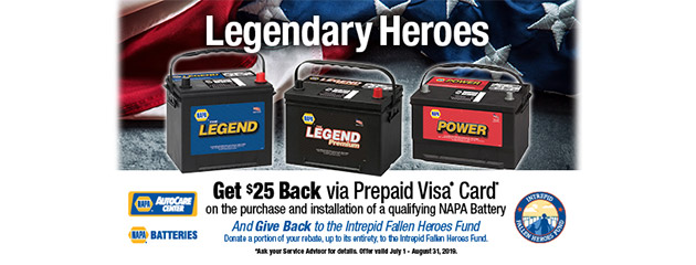NAPA - Get $25 Back on Purchase and Installation of Qualified Batteries