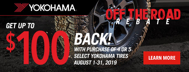 Yokohama - Off the Road Rebate