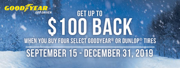 Goodyear Canada - Up to $100 Back on Select Tires
