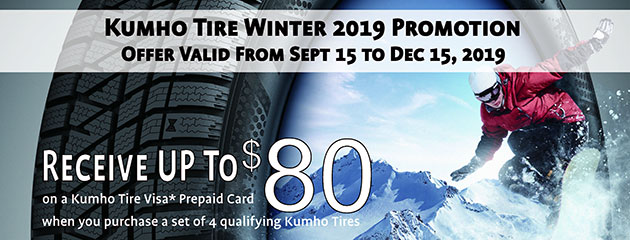 Kumho Canada - Up to $80 Back on Select Tires
