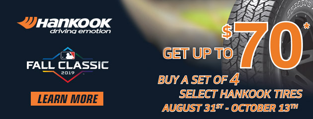 Hankook - Up to $70 Rebate