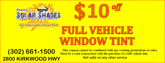 $10 Off Full Vehicle Window Tint