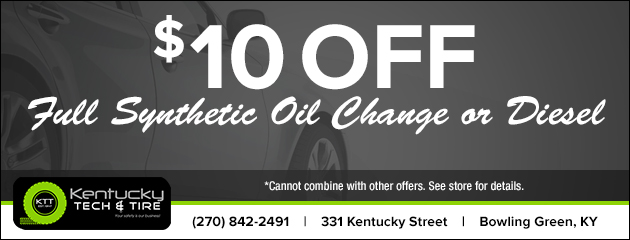 $10 Off Full Synthetic Oil Change or Diesel