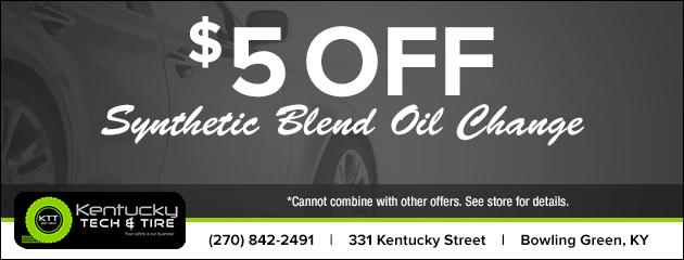 $5 Off Synthetic Blend Oil Change