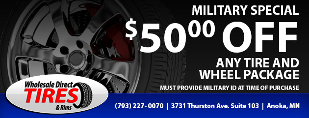 Military Special - $50 off any tire and wheel package