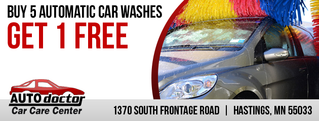 Buy 5 Automatic Car Washes, Get 1 FREE