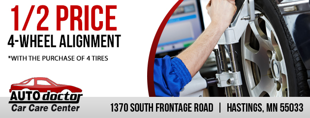 1/2 Price 4-Wheel Alignment