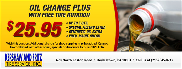 Lube, Oil & Filter Special - $25.95