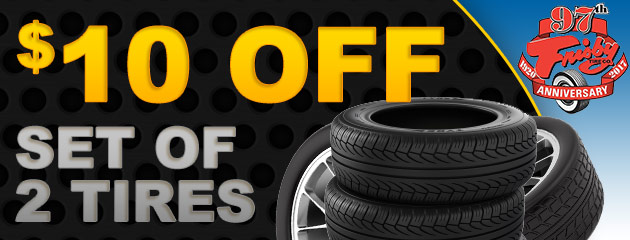 $10 Off 2 Tires