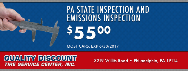 PA State Inspection and Emissions Inspection: $55