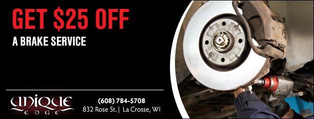 Get $25 off a Brake Service Coupon