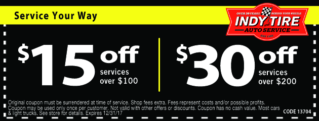 Save Up to $30 Off Services