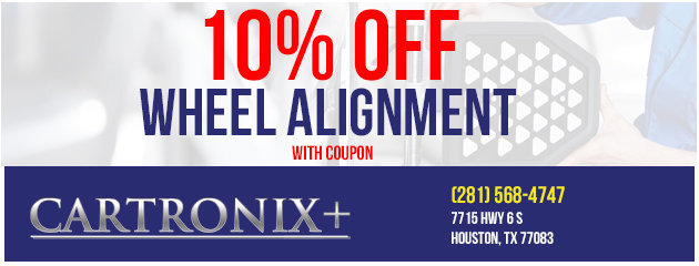 Wheel alignment 10% off with coupon