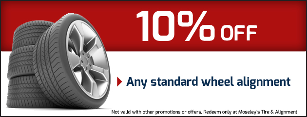 10% Off Any Standard Wheel Alignment Special