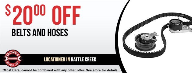 $20 OFF belts and hoses