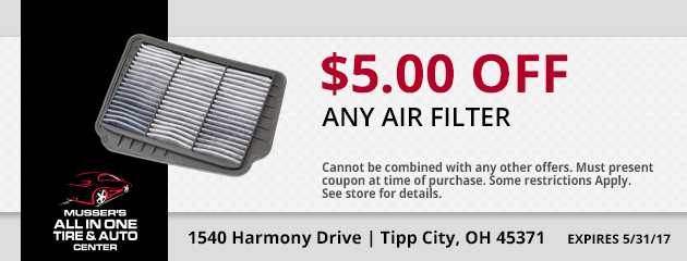 $5.00 off any Air Filter