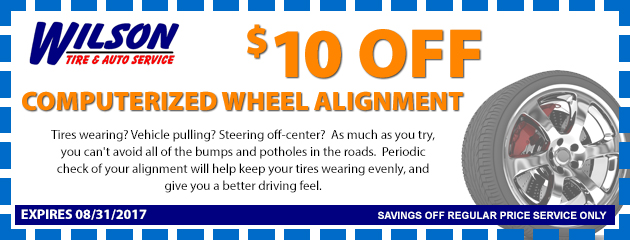 $10 OFF Computerized Alignment