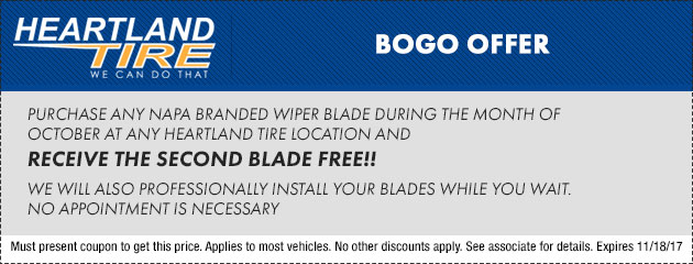 Windshield Wiper BOGO Special