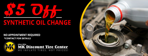 $5 Off Synthetic Oil Change