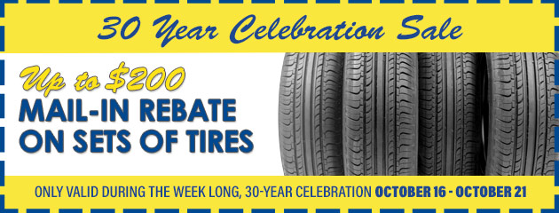 Up to $200 Mail-in Rebate on Sets of Tires