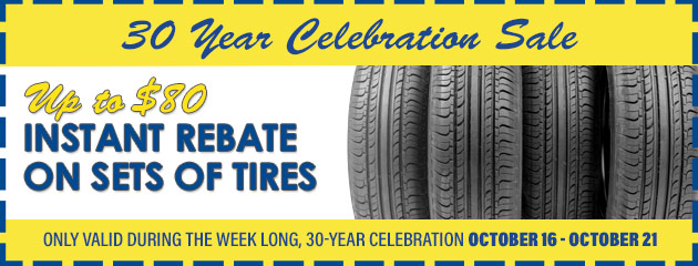 Up to $80 Instant Rebate on Sets of Tires