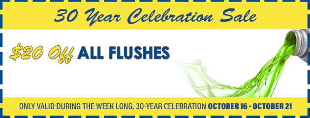 $20 off all flushes