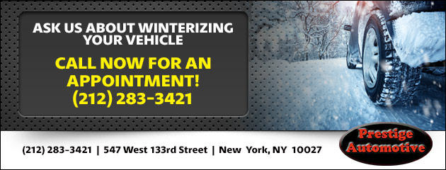 Ask Us About Winterizing Your Vehicle
