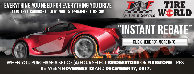 Instant Rebate on Firestone or Bridgestone Tires