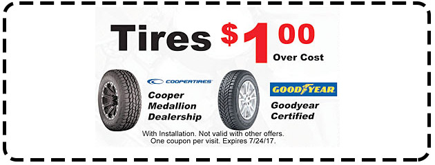 Tires $1.00 Over Cost
