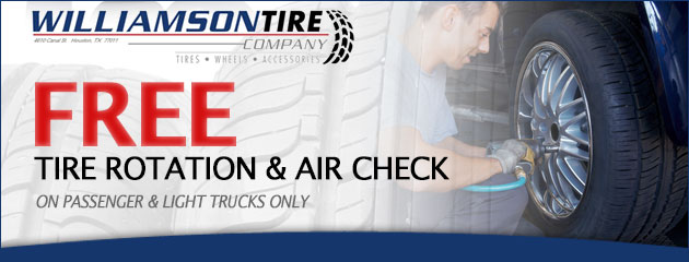 Free Tire Rotation and Air Check