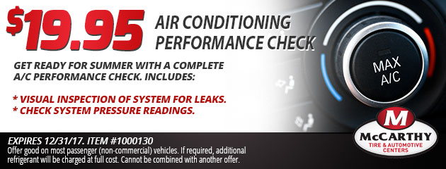 $19.95 Air Conditioning Performance Check