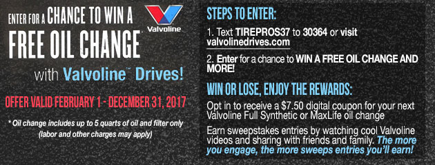 Enter For a Chance To Win a Free Oil Change