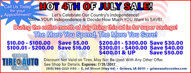 Hot 4th of July Sale!