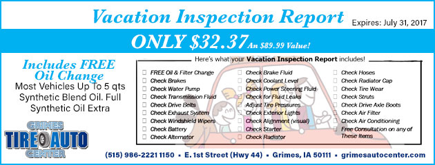 Vacation Inspection Report Only $32.37