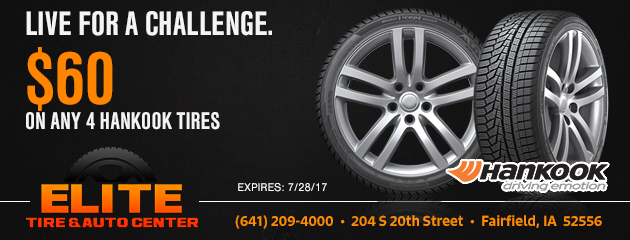$60 on Any 4 Hankook Tires