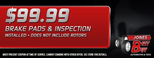Brake Pads and Inspection Installed $99.99
