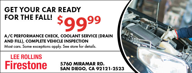 Get Your Car Ready for Fall Coupon