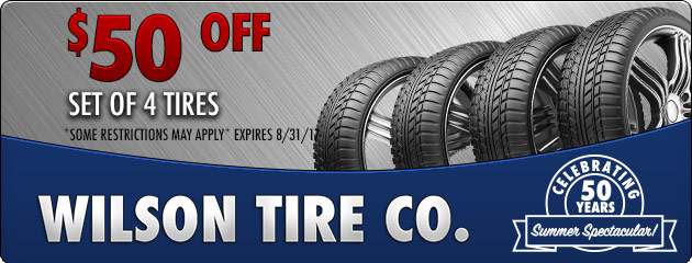$50 Off Set of 4 Tires