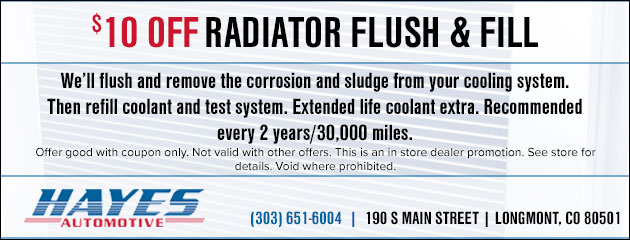 $10 Off Radiator Flush