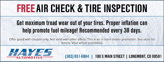 Free Air Check & Tire Inspection
