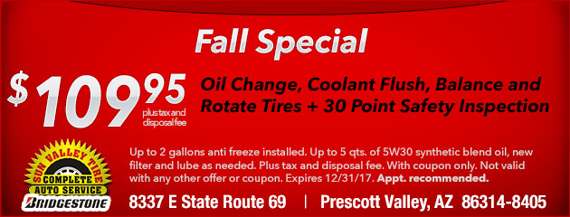 Fall Special - $109.95