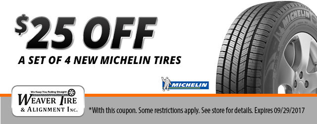 $25 Off Michelin Tires