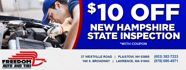 $10 off New Hampshire State Inspection Special