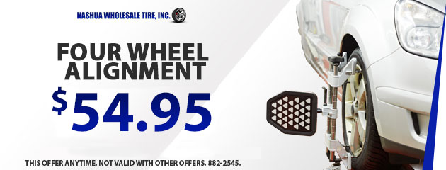 Four Wheel Alignment Special -$54.95