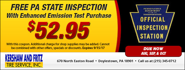PA State Inspection Special